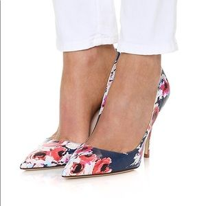 Kate Spade Pumps   Blurry Floral Licorice